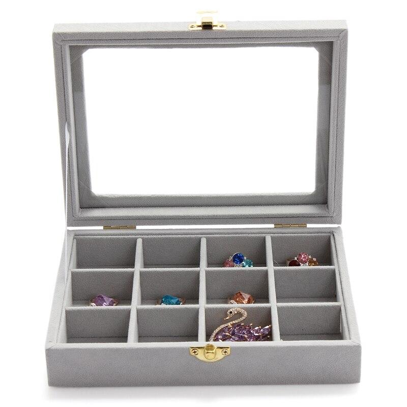 •Anfei 12 сетки черный jewelry Дисплей витрина Кольцо Серьги ...