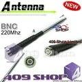 Buena 14 ~ 37.8 cm negro 220 mhz BNC telescópica antena IC-V8