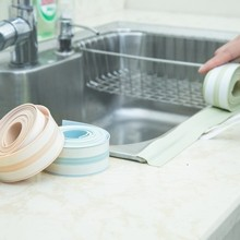 Home Decoratio 1Roll PVC Corner line waterproof sealing strip Stickers 30*2600mm