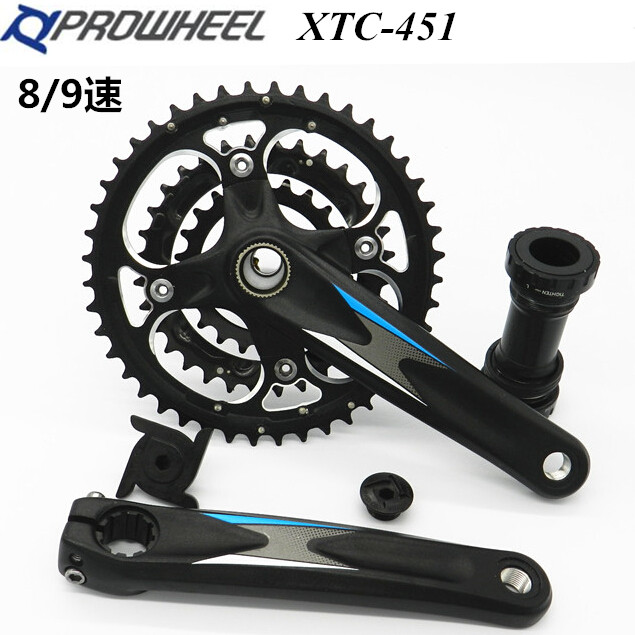 Prowheel Xtc 451 MTB Mountain Bike Crankset 22 32 44 for 8 9 Speed 170mm 68mm 73mm Better Than M590 Bicycle Crank Chainwheel prowheel chariot 53t folding bike road bike crankset 170 crank bicycle chainwheel 170l 170mm for sp8 8s 9s speed