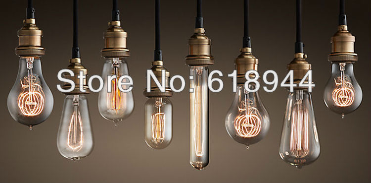 Copper Vintage Pendant Lights with Edison bulb Pendant Lighting lights for home vintage lamp luminaire lampa e27 220v for decor