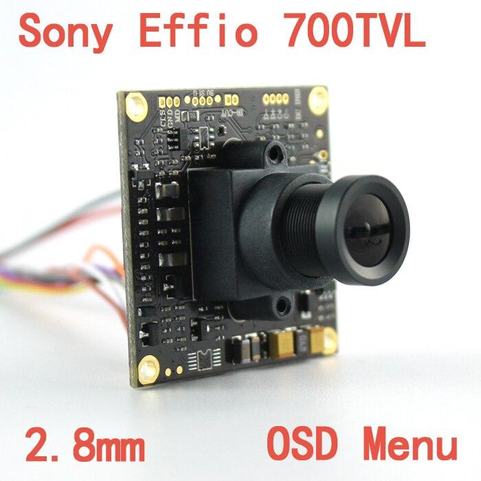 """imágenes para 1/3 """"sony effio-e 4140 811 700tvl 2.8mm lente gran vista ccd cctv junta cámara con menú osd aglomerado para cámara de seguridad"""
