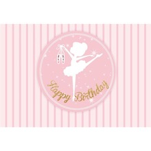 Laeacco Cartoon Stripes Diamond Pattern Dancing Girl Baby Birthday Photography Background Customized Backdrops For Photo Studio