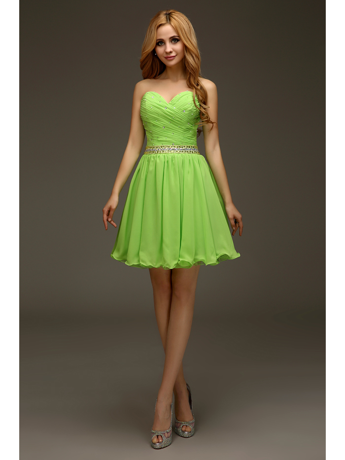 Popular Lime Green Cocktail Dress-Buy Cheap Lime Green Cocktail ...