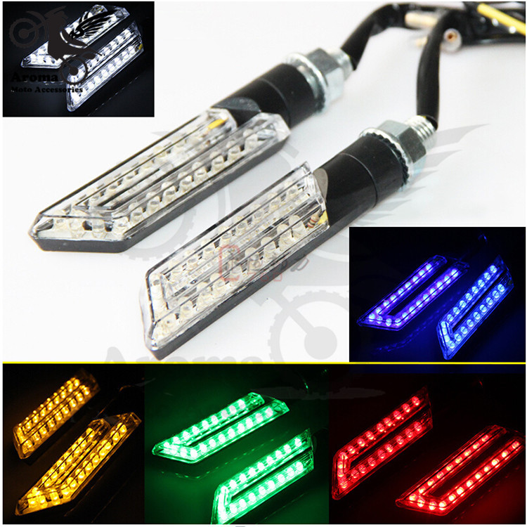 5 colors available lighting part personality scooter LED blinker light motorbike flashers moto indicator motorcycle turn signal