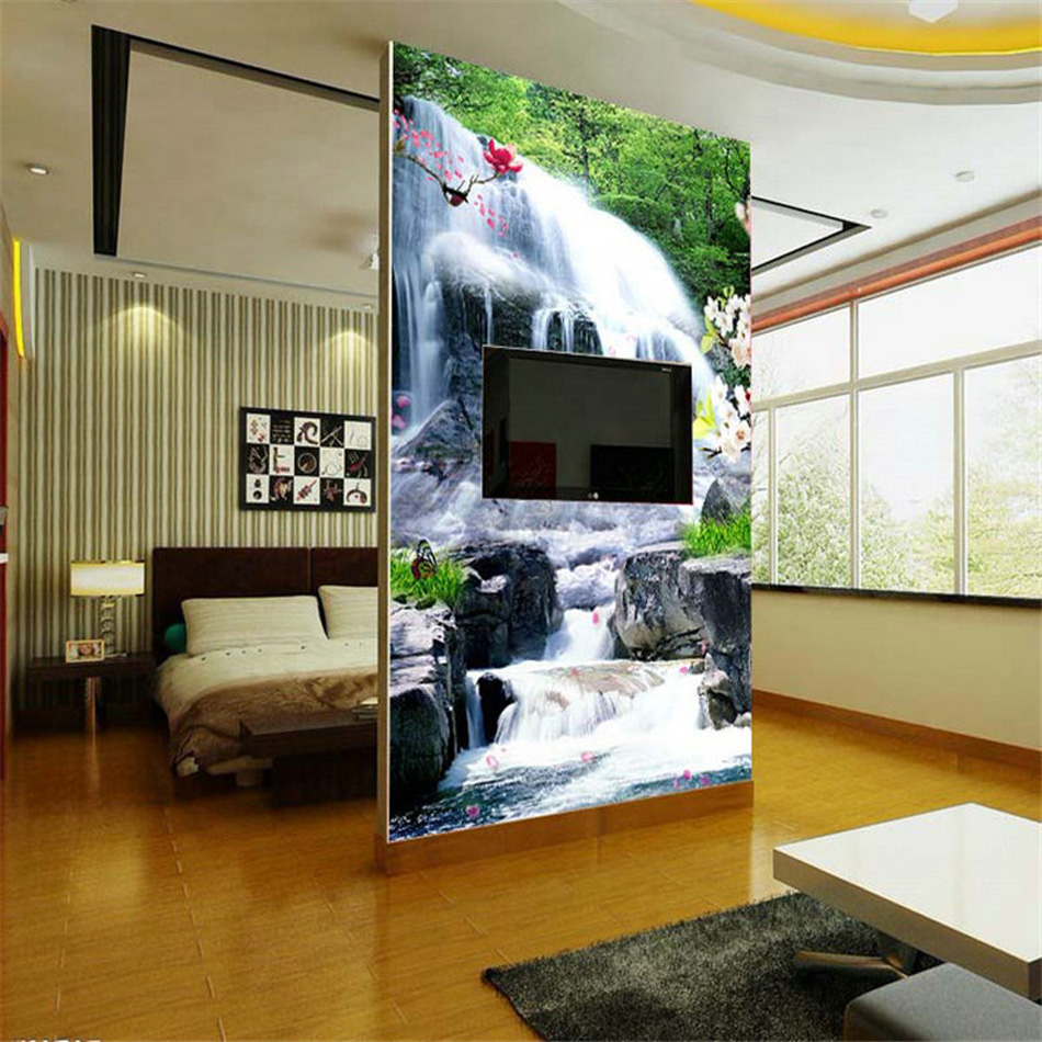 Fresh designs country landscape waterfall wallpaper 3d wall mural fresh designs country landscape waterfall wallpaper 3d wall mural rolls for office living room hall hotel restaurant backdrop in wallpapers from home amipublicfo Images