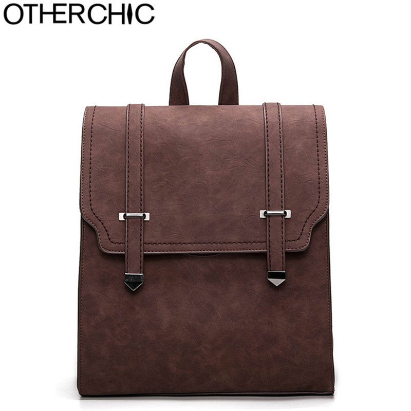 OTHERCHIC HOT New Designer Vintage Backpack Double Arrow head Women Backpack High Quality Fashion Girls School