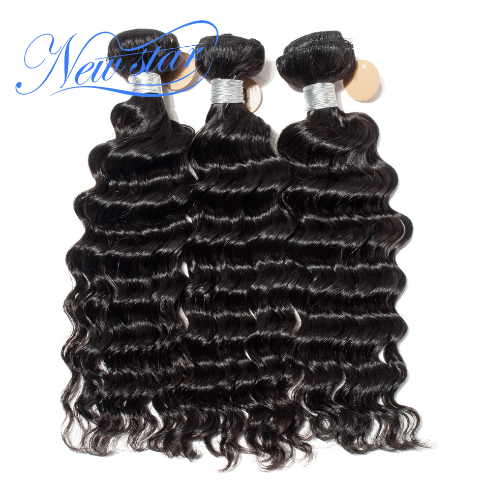 New Star Hair Brazilian Deep Wave 3 Bundles Extension 100% Remy Human Hair Weave 10-24Inch Thick Hair Weaving Free Shipping