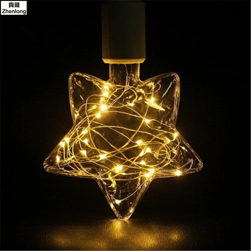 ball bubble restoring ancient ways LED string Lights Pentagram LEDs for Party Wedding Decoration Christmas Flasher Fairy Lights