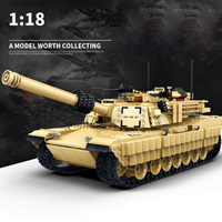 Modern military U.S.A Abrams Main Battle Tank moc minifigs batisbricks building block ww2 army force figures model bricks toys