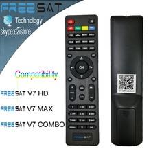 Freesat free sat hd digital dvb-s2 satélite de control remoto para freesat v7 v7 v7 max freesat hd freesat combo
