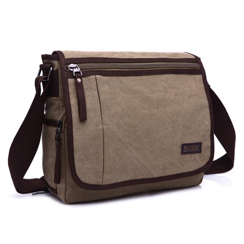 DB53 Hot Sale! High Quality Men Canvas Bag Casual Travel Bolsa Masculina Men's Crossbody Bag Men Messenger Bags Large Capacity