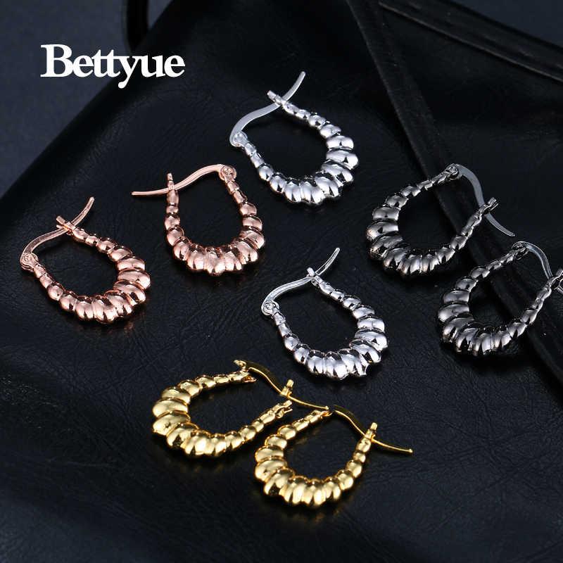 Bettyue Merek Fashion Hot Sale Kreatif Kualitas Tinggi Logam Perhiasan Anting-Anting untuk Wanita Eropa dan Amerika Gaya Pernikahan Hadiah