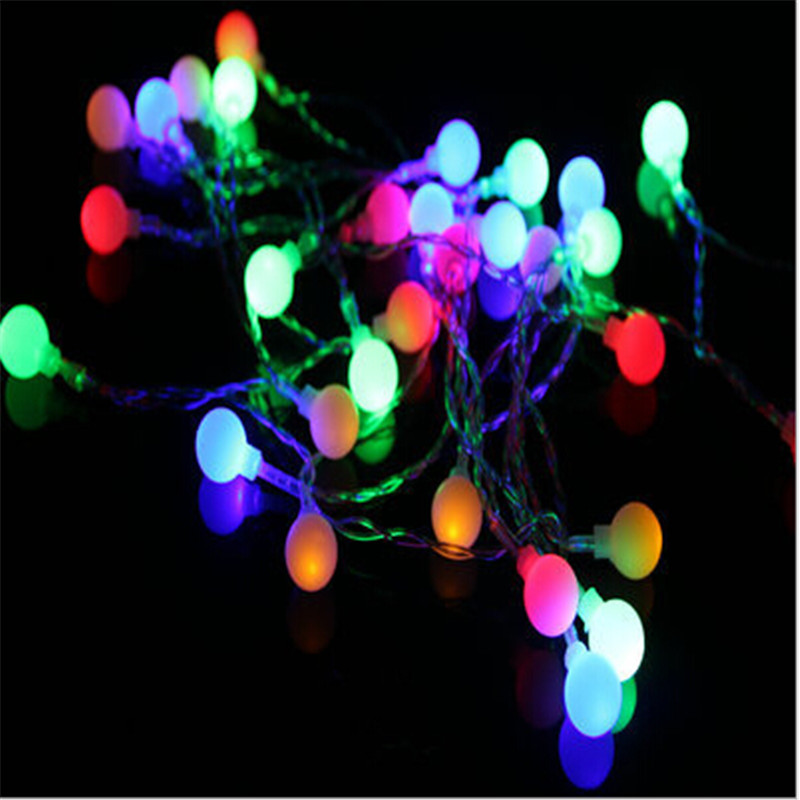 AC220V 10M 80Led Cherry Balls Fairy String Decorative Lights Wedding Christmas Outdoor Patio Garland Decoration