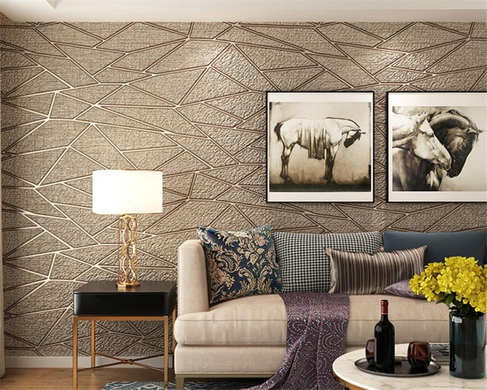 Beibehang 3d Deluxe Wohnzimmer Tv Hintergrund 3d Tapete Moderne