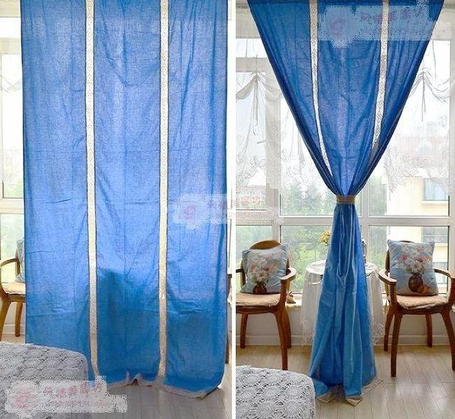 Morden Lace Curtains For Living Room Bedroom Cortinas Window Blue In From Home Garden On Aliexpress Alibaba Group