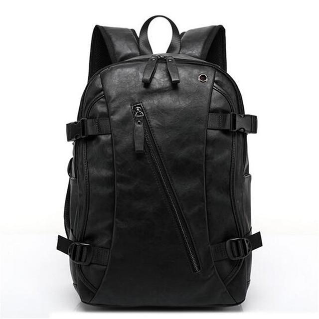 new Retro men backpacks Genuine  Leather 14-inch computer backpack bag Students school bag color Brown 41*32*14cm