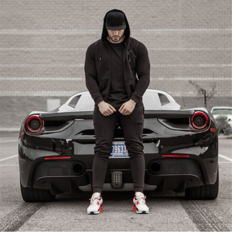 Learned New Sport Pants Men Gym Clothing Running Pants Male Fitness Body Building Pants Joggers Autumn Winter Sport Pants Mens Trousers Running