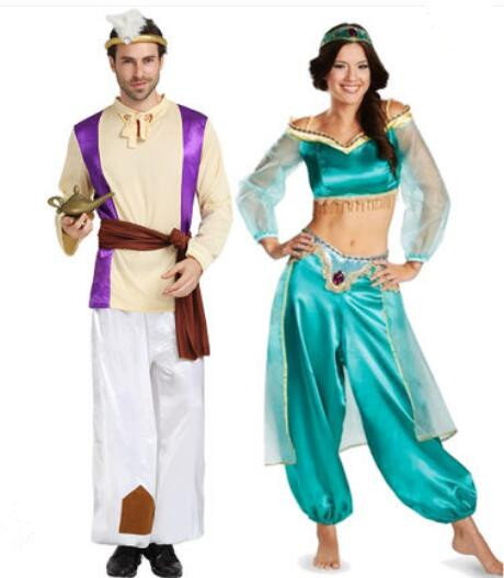 Kids Costumes & Accessories 2019 Newest Halloween Party Cosplay Kids Adult Princess Jasmine Costume Aladdins Lamp Clothes Lovers Clothing Masquerade Dress Novelty & Special Use