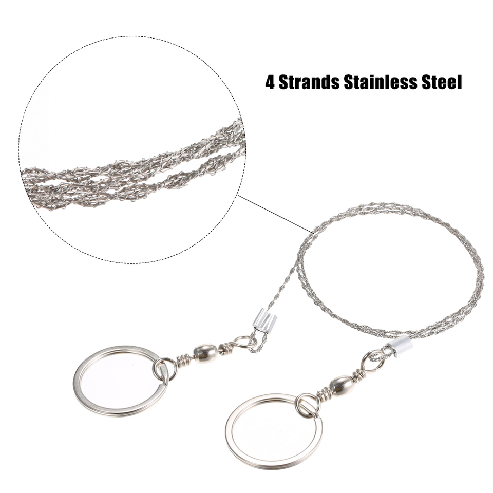 Lightweght Stainless Steel Wire Saw Outdoor Survival Toolkit Survival Saw FE