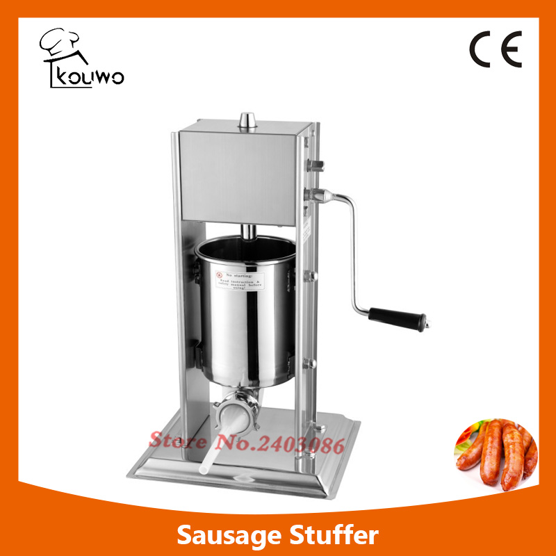 3L vertical manual stainless steel sausage stuffing machine with different sausage funnel,sausage maker,sausage making machine 2l spanish manual stainless steel churro maker machine