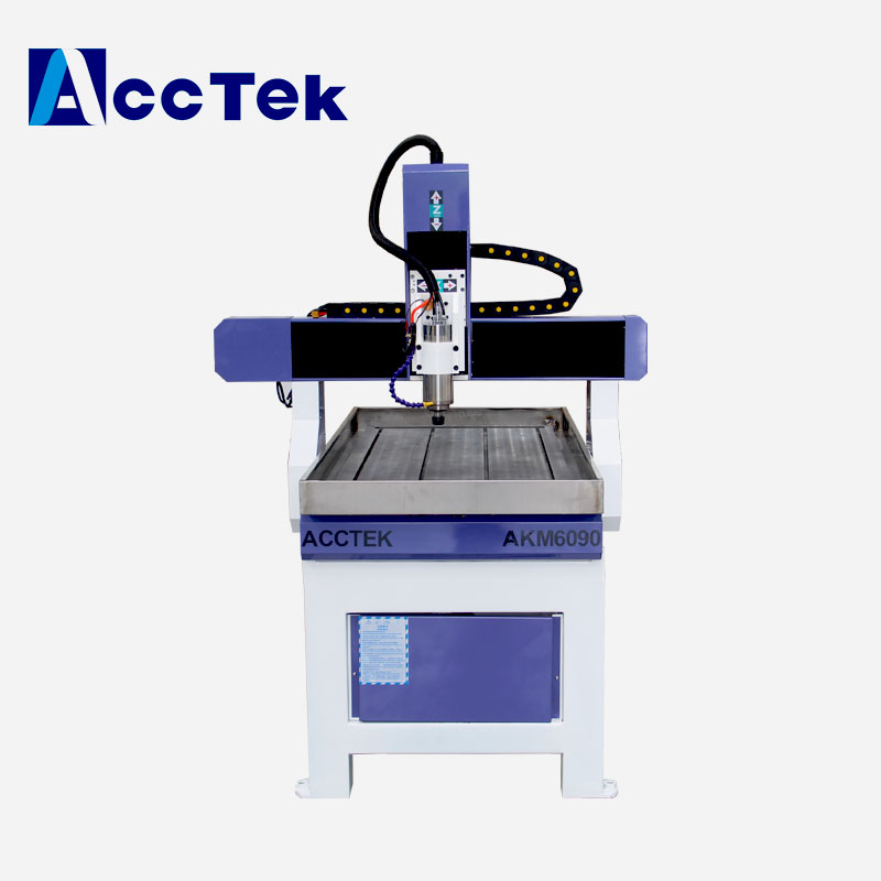 Desk Cnc Router 6090 For Aluminum With Fast Speed 1.5kw Spindle Motor Small Cnc Router