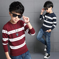2017 Striped Boys Sweater Long Sleeve Autumn Boys Cardigan For Teenagers 5 6 7 8 9 10  Years Baby Boy Wear Kids Clothes