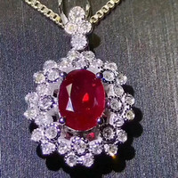 18k Gold Natural Gemstone Pendant Necklace Fine Jewelry For Women MEDBOO High Classic 1 05ct Red