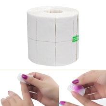 Tampon de nettoyage pour vernis à ongles blanc, 500/300/pièces/32 pièces/rouleau, lingettes pour dissolvant de Gel, Nail Art, manucure, papier en coton