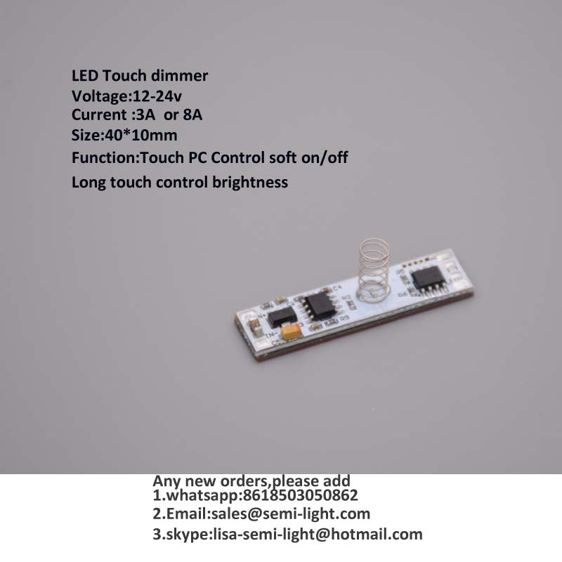 PCB Touch dimmer for LED aluminum strips lights