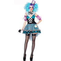 New Arrival Funny Masquerade Harley Quinn Costume Women Adult Joker Clown Circus Cosplay Carnival Halloween Costumes
