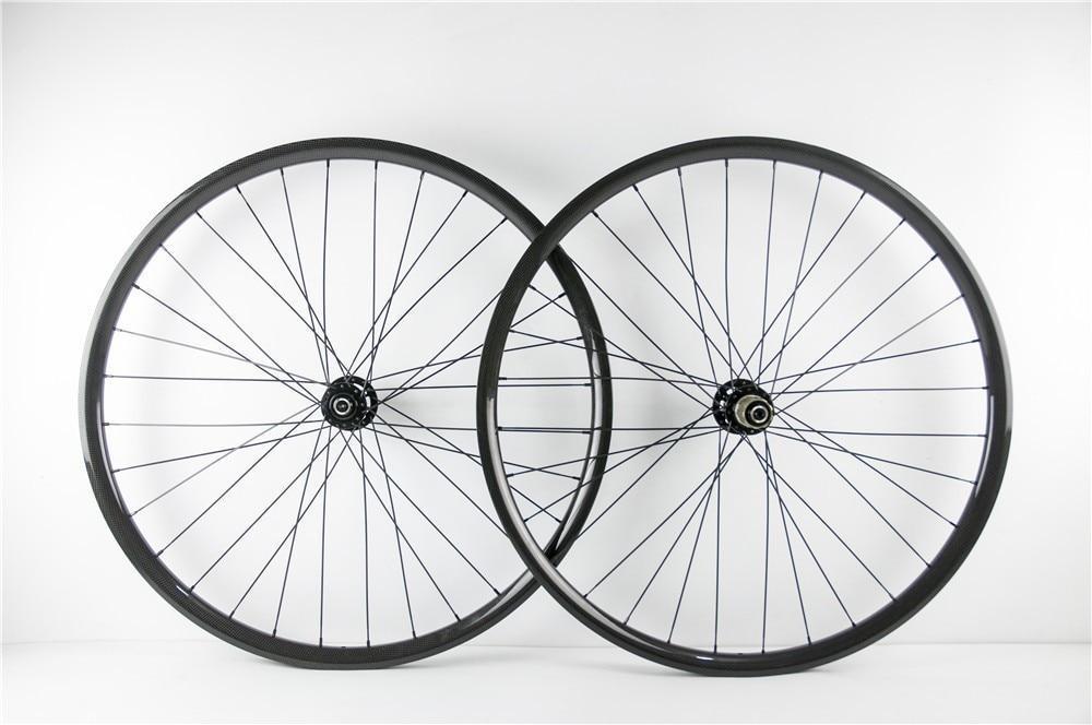 Одна пара колес 650B углеродного волокна велосипед колесной дисковый тормоз 25 мм Глубина 27мм Ширина загиба или модель hookless 11 скорость