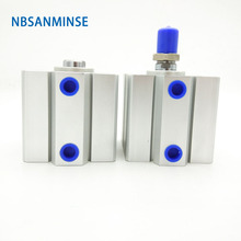 NBSANMINSE SDA  Without Magnet  Bore 40mm Compact Cylinder AirTAC Type Double Acting Cylinder Pneumatic Parts