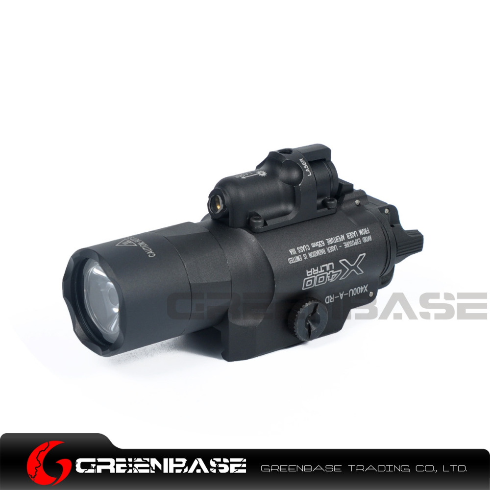 Greenbase SF X400 Series X400U Weapon Light Tactical Hunting Flashlight With Red Laser Sight For Rifle Scope For Pistol Airsoft greenbase tactical m300 m300b mini scout light outdoor rifle hunting flashlight 400 lumen weapon light led lanterna