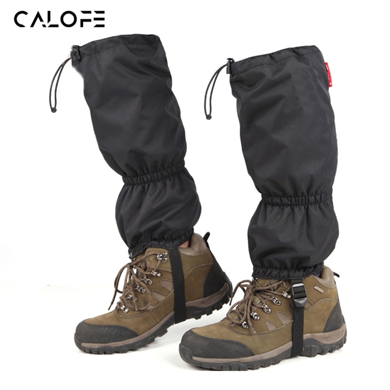 1Pair Outdoor Sport Pants Wateproof Snow Resistance Leg Warmers Adjustable Camping Hiking Leg Cover Black Gaiters