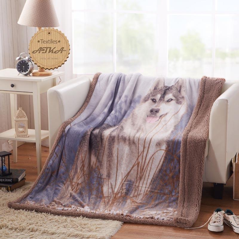 blanket farley velvet lambs wool blanket Fabric Flannel quilts bed sheet #2