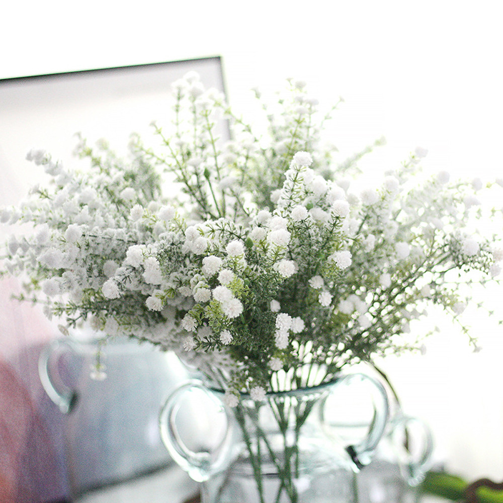 DIY Artificial baby's breath Flower Gypsophila Fake Silicone plant for Wedding Home Hotel Party Decoration