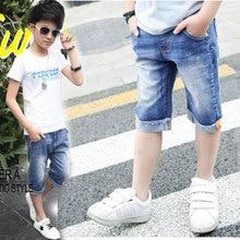 4 6 8 10 12 13 Years Summer Children Shorts Mid Big Child Boy Shorts For Kids Boys Casual Denim Short Pants Baby Boys Clothing