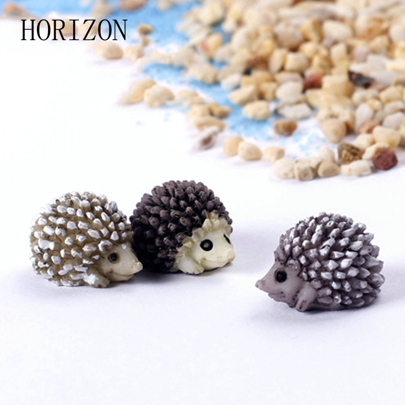 5pcs Hedgehog Fairy Garden Miniatures Micro Landscape Bonsai Plant Garden Decor Diy Craft Ornament Home Decoration
