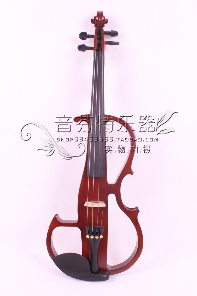 Quality electro-acoustic violin electronic violin solid wood red 8 handmade new solid maple wood brown acoustic violin violino 4 4 electric violin case bow included