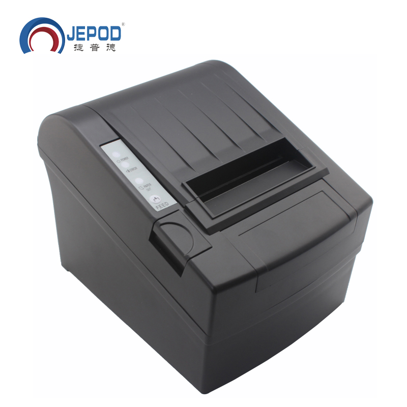 JP-8006 80mm USB Thermal Receipt Printer Auto Cutter 80mm Thermal Printer POS System LAN+USB+SERIAL Port Thermal Ticket Printer 2017 new arrived usb port thermal label printer thermal shipping address printer pos printer can print paper 40 120mm