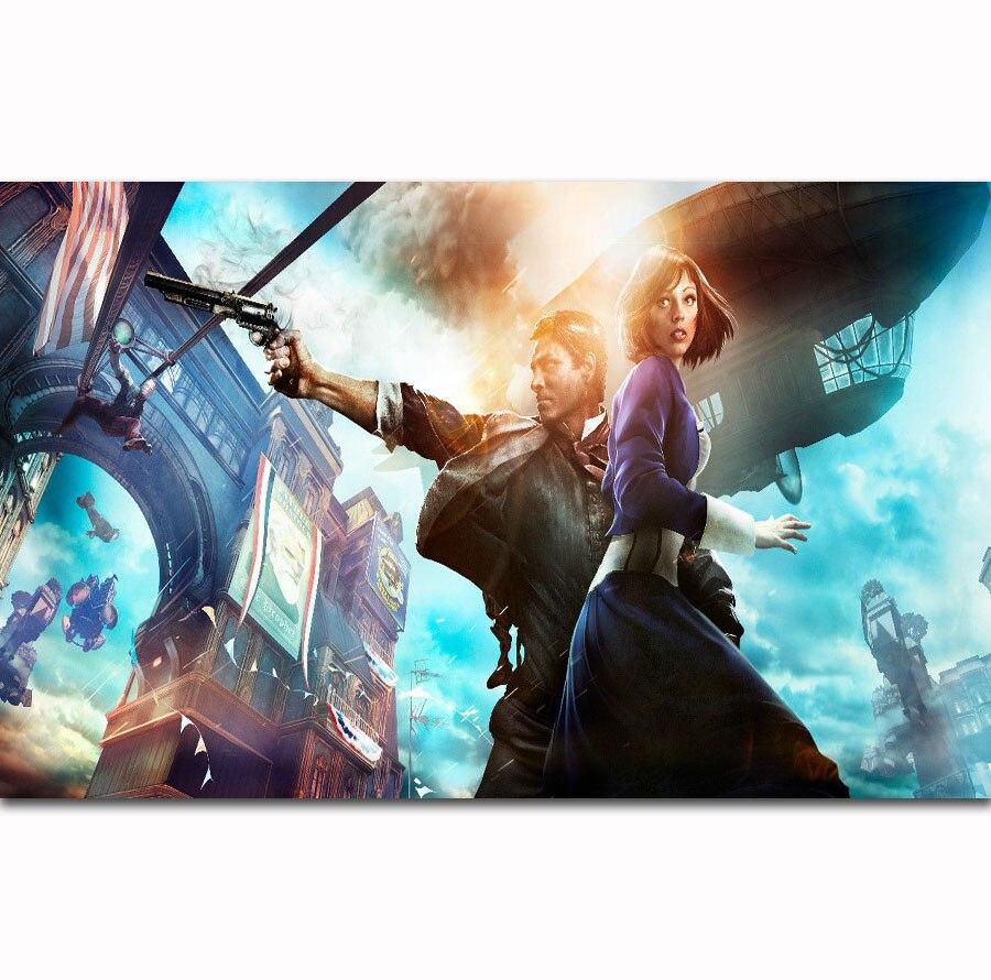 FX1360 Hot Game Bioshock Infinite Booker Video Gaming Classic Custom Poster Art Silk Light Canvas Home Room Wall Printing Decor