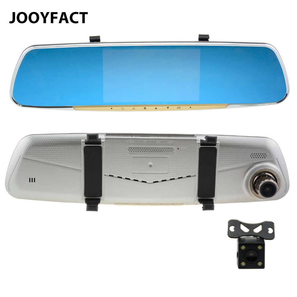 JOOYFACT R3T Car DVR Registrator Dash Cam Dual Lens Camera Rear View Mirror Capacitive Novatek Starlight Night Vision 1080P