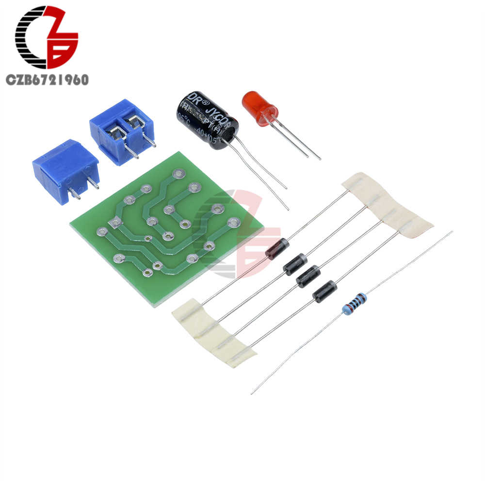 in4007 full wave bridge rectifier diy kits ac dc converter full wave rectifier circuit board kit [ 1000 x 1000 Pixel ]