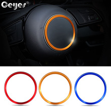 Ceyes Car Styling Auto Steering Wheel Hub Cover Accessories Decoration Stickers Ring