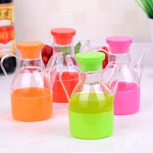 Colorful Kitchen Seasoning Oiler Gadgets Small Oil Bottle Oilcan