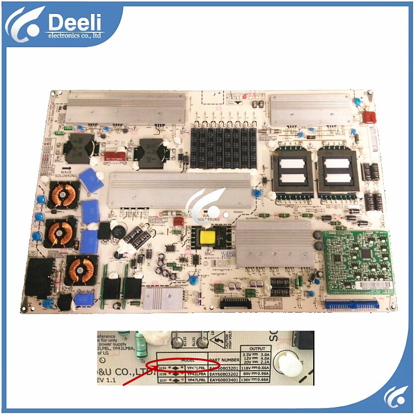 Working good 95% new original for Power Board 42LE5300-CA  42LE5500 YP42LPBL EAY60803201 42LE5300 board 95% new original for 47ld450 ca 47lk460 eax61289601 12 lgp47 10lf ls power supply board on sale