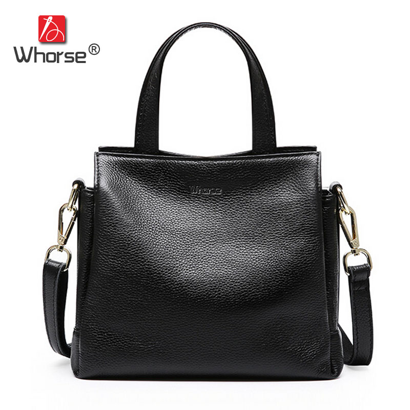 [WHORSE] New Arrival Women Handbag Genuine Leather Fashion Shoulder Bag Small Casual Messenger Bags W08780 2018 new fashion nubuck leather women s mini handbag vintage women s small handbag casual zipper shoulder messenger bag