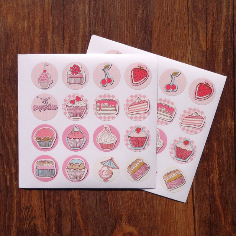 160Pcs lot Stickers Cake Box DIY Decorative Pink Sweet Sealing Stickers Handmade Gift Packing Decoration Stickers Scrapbooking in Stationery Stickers from Office School Supplies