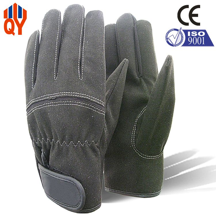 Qiangsheng Store Free Shipping Best Hot Sale Microfiber Leather Gloves Working Gloves
